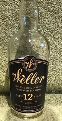 "W.L. Weller 12 Year Old Bourbon ""Empty""😉Bottle-750 ML Pappy 👍"