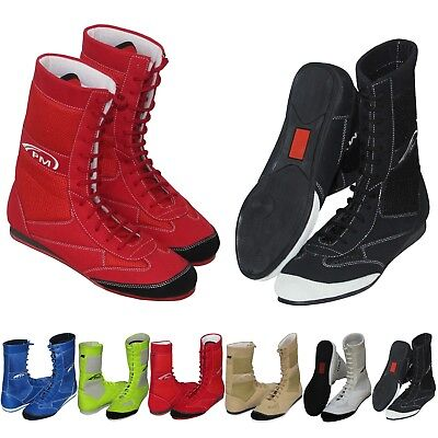 Kids Juniors Boxing Boots Shoes Wrestling Shoe 100% Pure Leather Boxing Boots