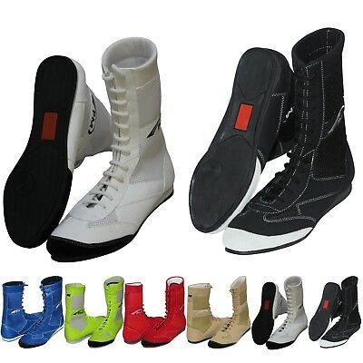 Adult Boxing Boots Shoes Wrestling Shoe Pure Leather Boxing Boots Light Weight