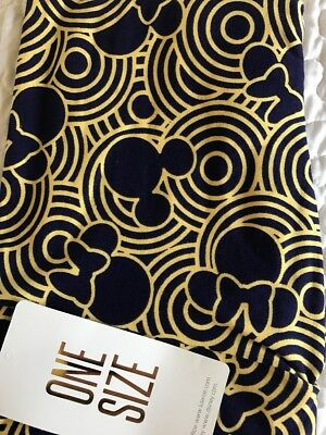 LuLaRoe OS Leggings NWT Disney Collection One Size *New in Bag* Black / Gold