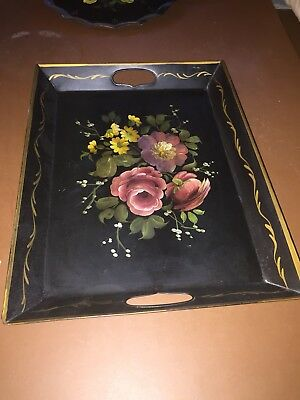 Toll Ware Tray Vintage Early 20th Century