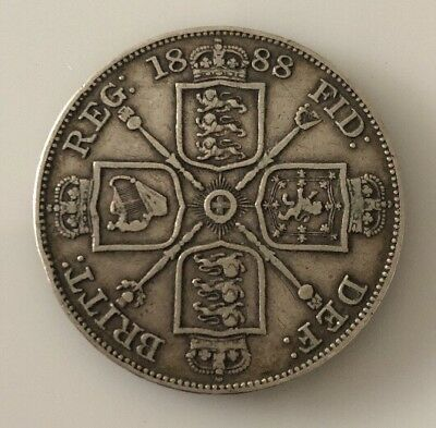 Great Britain: 1888 Queen Victoria Jubilee-Head Silver Double Florin