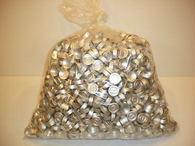 Huge 2500 Piece Lot 20mm Tear-Off Cap Silver Aluminum Crimp Seal Serum Vials