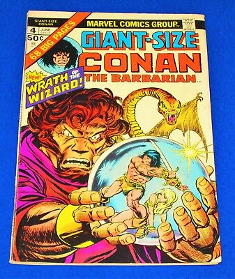 Giant-Size CONAN THE BARBARIAN Issue #4 [Marvel 1975] FN or Better!