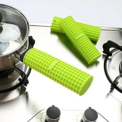 SILICONE POT PAN Handle Holder Sleeve Cover Grip Hot Sleeve