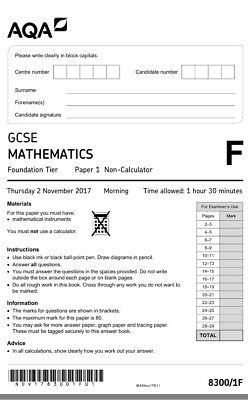 GCSE MATHS EXAM papers/answers May 2017 Grade 9-1 Edexcel - £12 00