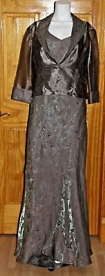 Size 16 Alex Evenings 2 Pc Long Dress And Jacket