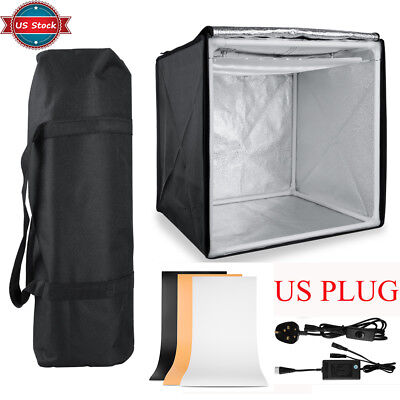 US 40*40 Studio Light Room Portable Photography Box Photo Led Tent Foldable Cube