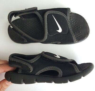 2fcdbe86b8a Nike Toddler Boy Girl Sunray Adjust Size 9C 9 Water Sandals Black Shoes