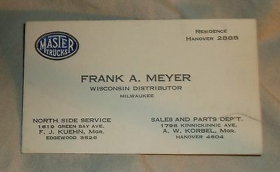 Vintage business card master trucks milwaukee wisconsin 230 vintage business card master trucks milwaukee wisconsin reheart Images