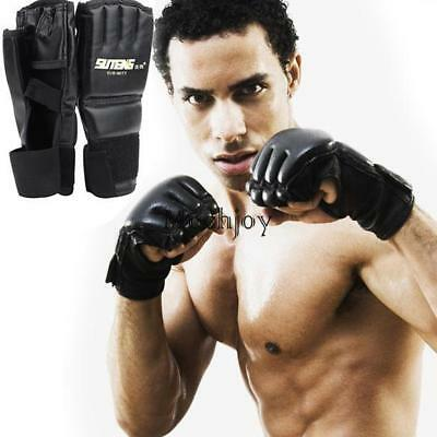 1 Pair Cool MMA Muay Thai Training Punching Bag Half Mitts Boxing Gloves Gym