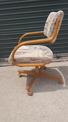 Vintage Danish Style MCM Chromcraft Kitchen Dining Cantilever Office Chair