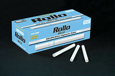 1000 NEW KING SIZE 25mm FILTER BLUE LIGHTS ROLLO TUBE Cigarette Tobacco Rolling
