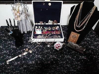 mixed lot of vintage & modern jewelry, sterling and gold tone