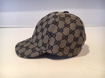 Gucci Children's CG Canvas Hat - Size S - Beige/Blue - RP $235