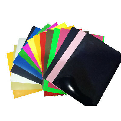 "Permanent Adhesive Backed Vinyl Iron On Sheets 25x25cm/10x10"" Assorted Color"