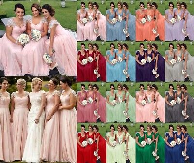 Lace Bridesmaid Dress Formal Ball Gown Evening Party Prom Long  Dresses 82006