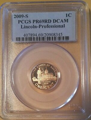 2009-S Pcgs Pr69 Red Dcam Lincoln Penny Professional Years * Rare * On Sale!
