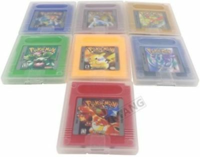 7x Pokemon GBC/GBA Games Set: Crystal, Silver, Gold, Yellow, Blue, Red, Green