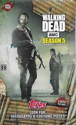 THE WALKING DEAD Season 5 Factory Sealed Box 24 Packs Autographs + Costume Cards