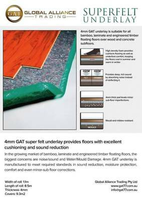 4mm Felt Underlay for any laminate, bamboo and engineered floors