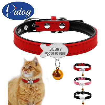 Cat Collar Personalized Puppy Small Dogs ID Collars Engraved Name Phone Number