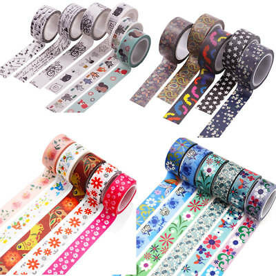 5m*1.5cm Washi Tape Masking Tape Scrapbook Decorative Paper Adhesive Sticker New