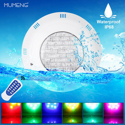 LED 24W Swimming Pool Underwater Light RGB Remote Control Landscape Colorful Spa