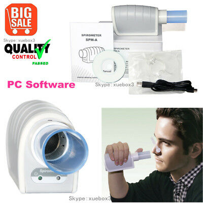 Factory New Handheld Digital Spirometer,FVC,VC, MVV, Spirometer with PC Software