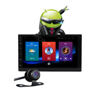 """Android 6.0 OS 7"""" 2Din Car DVD Player Bluetooth WIFI Stereo GPS + Rear Camera"""