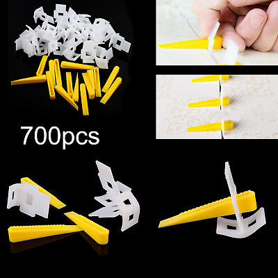 500 Clips 200 Wedges Tile Leveling Spacer System Tool Flooring Level Lippage Kit