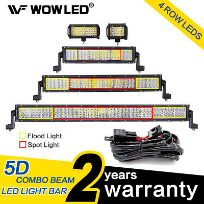 WOW - LED Light Bar 4 Rows Flood Spot Combo Beam Offroad Lamp  12V 24V 120W 180W