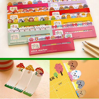 120 Pages Cute Animal Sticker Bookmark Marker Memo Flags  Sticky Notes