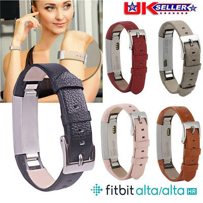 Replacement Leather Sports Watch Band Strap Bracelet For Fitbit Alta & Alta HR