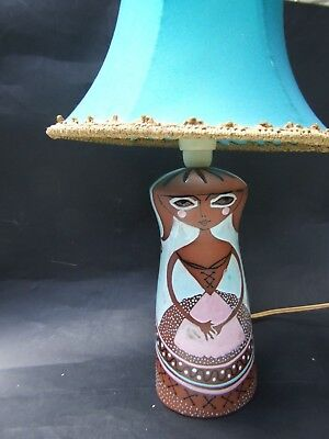 Martin Boyd Brown Lady Lamp Base  Australian Pottery Signed - -Rare 50's