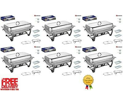 Set Of 6, Single Compartment 9.5L Chafing/Buffet/Party Dishes or Food Warmer