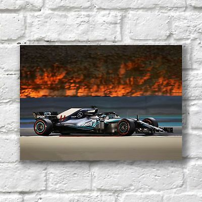 Lewis Hamilton Poster A4 NEW 2018 Formula One F1 Petronas Car 44 Race Champ #1