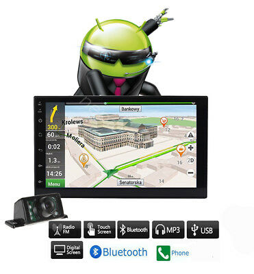 """7"""" Smart Android 6.0 WiFi Double 2DIN Car Stereo MP5 NO DVD Player GPS +camera"""