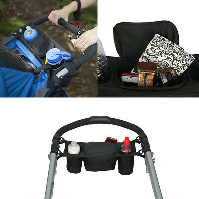 Universal Baby Stroller Pram Organizer Bottle Cup Holder Hanging Storage Bag