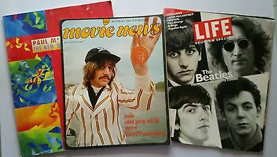 ♫ THE BEATLES  Movie News Life and McCartney Tour Book magazines  OOP - lot 26 ♫