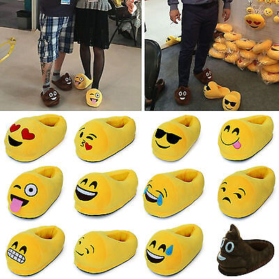 Emoji Unisex Slipper Warm Winter Womens Home Shoes Indoor Plush Velvet Slippers