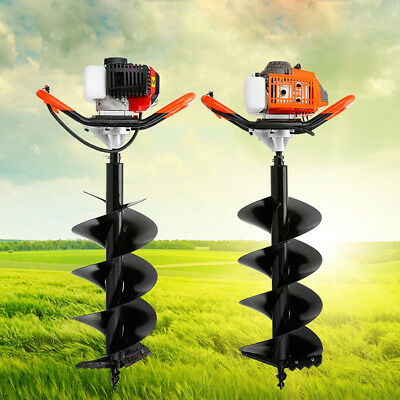 """52cc Post Hole Digger 2.3HP Gas Powered + 5"""" Power Engine Auger Bits"""