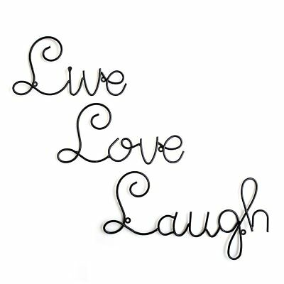LIVE LOVE LAUGH Set 60 Wall Mount Metal Word Quote Sculpture Art Home Inspiration Live Love Laugh Quote