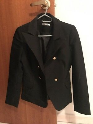 Women's Gold Button Blazer, Size 8