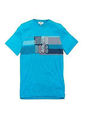 Hugo Boss Boys Blue Round Neck Short Sleeve T-Shirt