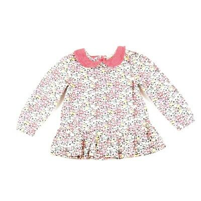 Girls Boots Mini Club Flowery Shirt. Age 18-24 months.
