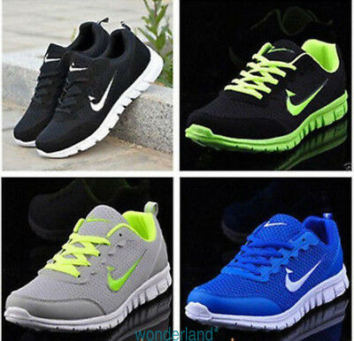 Mens&Women Sports Trainers Running Gym Size Uk5.5-11.5 Breath Shoes+Gift 2018