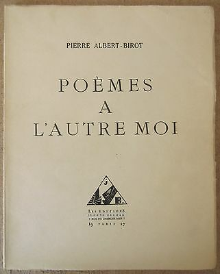 ALBERT-BIROT POEMS With'OTHER DESPICABLE ME 1927 EO limited to 174 Ex. Num