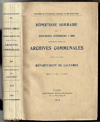 Directory Of Documents Previous Has 1800 Archives Communal Of Calvados