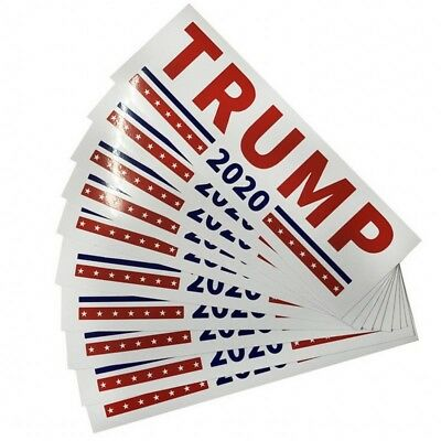 10Pcs Donald Trump For President 2020 Bumper Sticker Keep America Great Decal ##